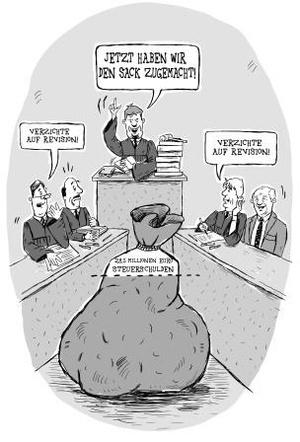 """Karikatur """"Sack zu"""" - Jana Moskito"""